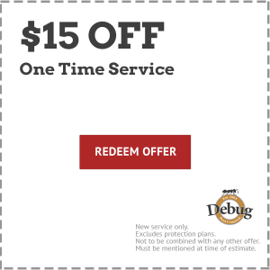 $15 Off One Time Service