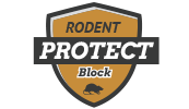 Rodent block logo
